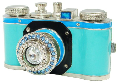 Objet D'Art Release 155 Click Vintage 35mm Camera Handmade Jeweled Metal  Enamel Trinket Box