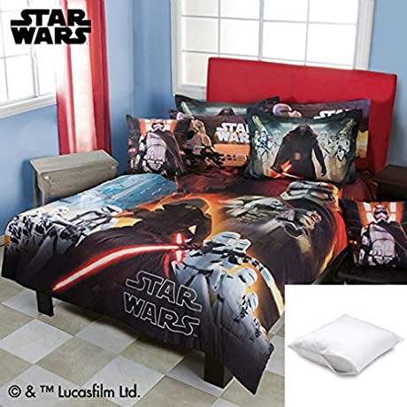 Star Wars The Force Awakens 9 Pc Comforter Set Full Bundled With Two Pillow Protectors Queen