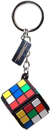 Bioworld Rubik'S Cube 3D Rubber Pendant Keychain, Multi-Colour (KE405705RBK) Llavero, 10 cm, (Multicolour)