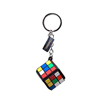 Bioworld RubikS Cube 3D Rubber Pendant Keychain, Multi ...