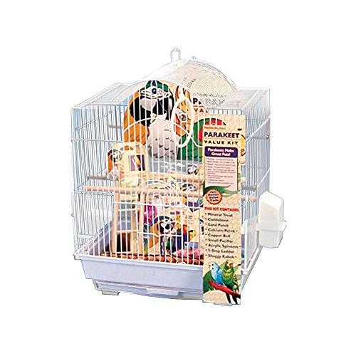 Penn Plax 64593 Small Bird Cage Kit Arch Style, White ()