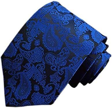 Elviros Paisley Jacquard Woven Men's Tie 3'' [8cm]