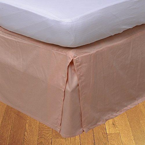 LaxLinens 250 fils cm², 100%  coton, finition élégante 1 jupe plissée de chute lit Longueur    26  Euro pêche solides Super King