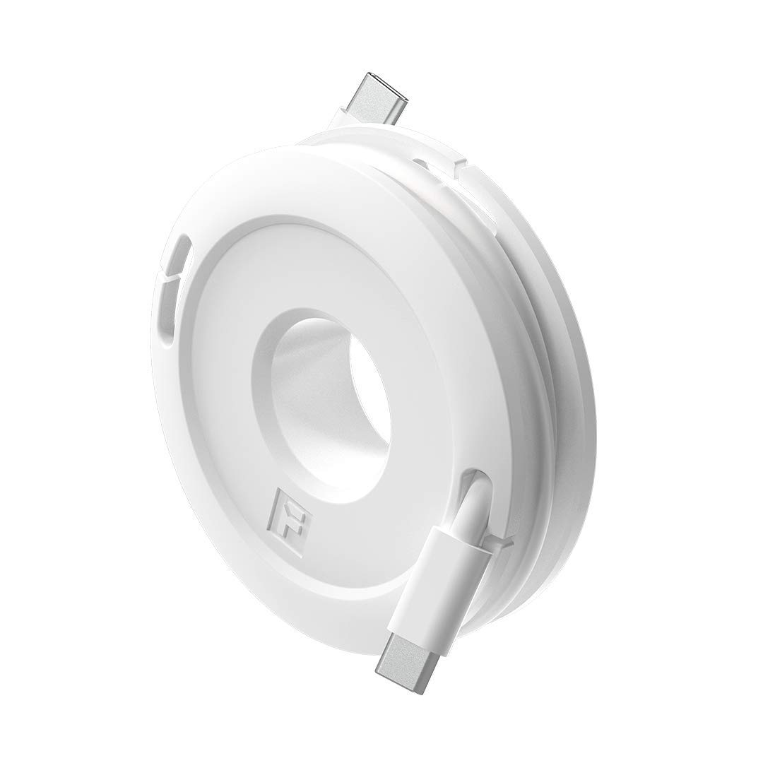 Side Winder Mini and Max Headphone and cable winder and organizer perfect for wrapping earbuds and cords for travel and organization Mini, White