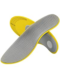 SOUMIT Orthotic Insoles - Cotton Replacement Foot Soles Pads with Arch Support, Inner Footbed Insoles for Flat Foot, Fallen Arch and Plantar Fasciitis