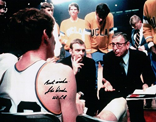 John Wooden Signed 8X10 Autograph Photo