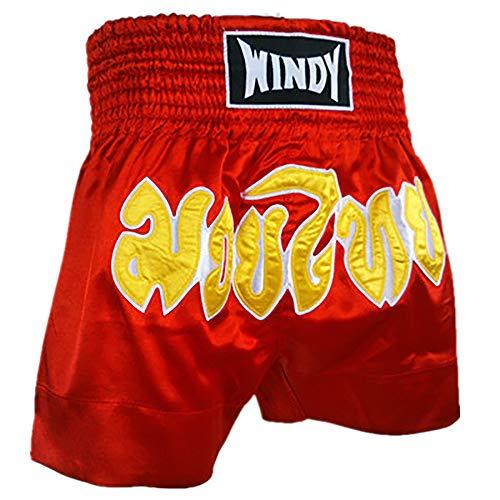 TOPTIE Boxing Shorts for Boxing Training Punching, MMA Muay Thai Kickboxing Trunks-XXL Red