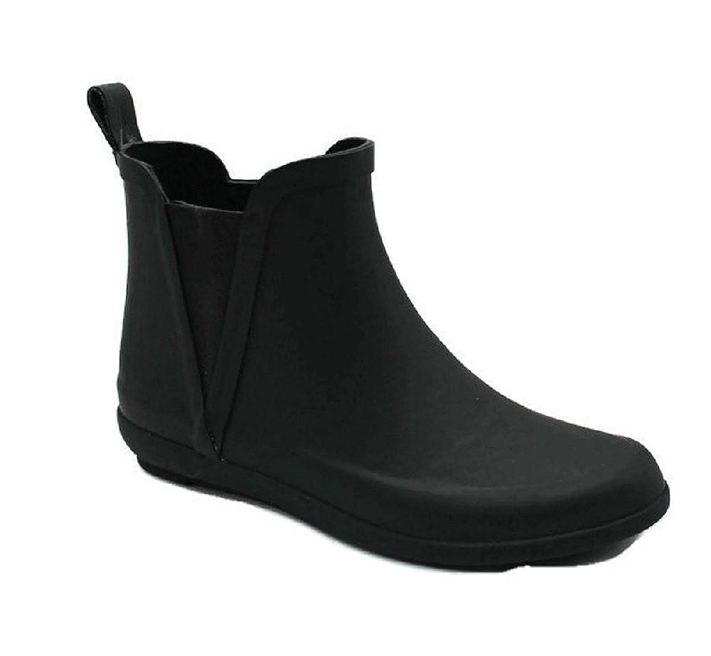 7826f197c4 Amazon.com | SkaDoo Women's Ladies Short Ankle High Rain Winter All Rubber Black  Boots Booties Waterproof All-Weather | Rain Footwear