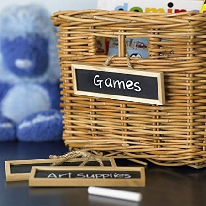 Pottery Barn Kids Sabrina Basket u0026 Chalkboard Labels & Amazon.com: Pottery Barn Kids Sabrina Basket u0026 Chalkboard Labels ...