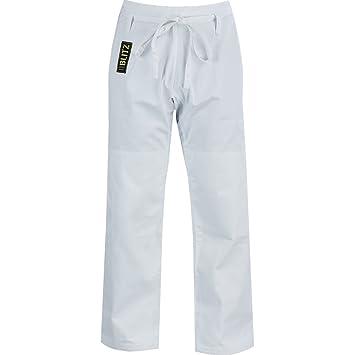 Training Trousers White Blitz Adult 100% Cotton Gold Heavyweight Judo Pants