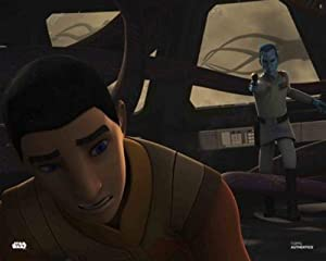 Star Wars Authentics: Taylor Gray and Lars Mikkelsen as Ezra Bridger and Grand Admiral Thrawn in 'Star Wars Rebels 16x20' Official Photo