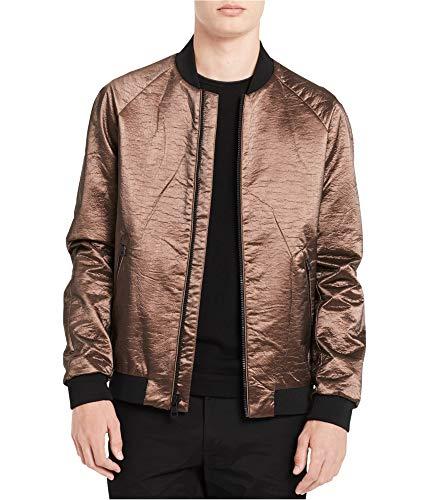Calvin Klein Mens Copper Bomber Jacket Brown XL