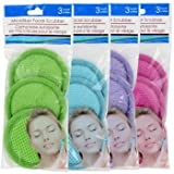 24 Microfiber Spa Facial Scrubbers,8 X 3-ct. Packs Random Colors