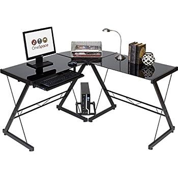 z line belaire glass l shaped computer desk kitchen dining. Black Bedroom Furniture Sets. Home Design Ideas