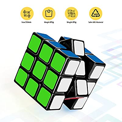 Suvevic Speed Cube, Sticker Smooth Magic Puzzle, Enhanced Version from Suvevic