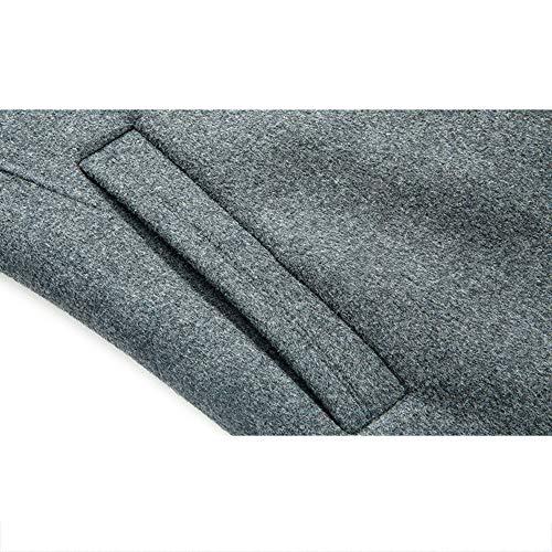 Vento Vento in Lavoro A da nihiug nihiug nihiug Uomo Invernale Doppio Giacchino Cappotto Cashmere Giacca Grey da da Uomo Extra Lungo Cappotto Petto di nn4zBF7