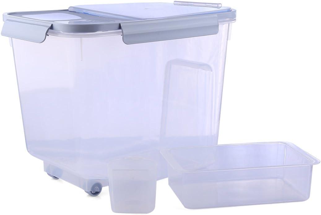 Tosbess 10Kg Cuisine R/éservoir de Stockage C/ér/éales Portable Bo/îte de Rangement en Plastique Alimentaire Grain C/ér/éales Farine de Riz Contene Bo/îte sp/écifique /à C/ér/éales Optimum