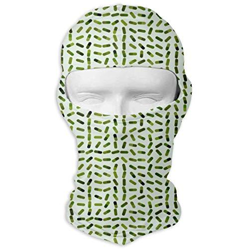 Comfortable Washington State Weed Leaf Headcover Soft Balaclava Headwear Fit Full Hood Face Mask White