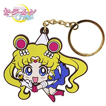 Sailor Moon Luna Cristal Llavero pellizcado: Amazon.es ...