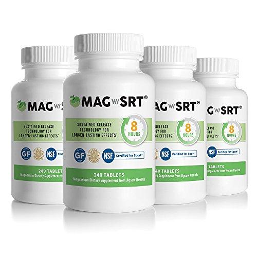 Jigsaw Health - Magnesium w/SRT 240 Tablets/Bottle X 4 Bottles - Value Pack by Jigsaw Health