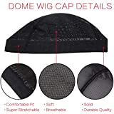 Dome Caps Stretchable Wigs Cap Spandex Dome Style