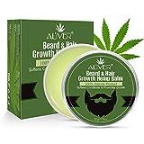 All Natural Hemp Beard Balm, Stimulated Beard Growth, Moisturize Soften Condition Style Beard Unscented Anti-Dandruff for Men