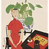 Canvas Prints Of Oil Painting ' Hu Yongkai,Woman Tasting Tea,2009 ' , 10 x 10 inch / 25 x 26 cm , High Quality Polyster Canvas Is For Gifts And Basement, Bed Room And Kitchen Decoration, panoramic