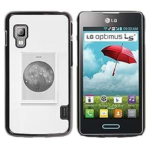GOODTHINGS Funda Imagen Diseño Carcasa Tapa Trasera Negro Cover Skin Case para LG Optimus L5 II Dual E455 E460 - mapa universo estrellas del arte negro del cartel