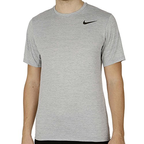 Nike Dri Fit Touch Ultra Soft Short Sleeve Men's T-Shirt Cool Grey/Black 742228-065 (Size S)