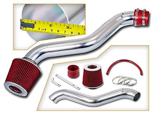 Rtunes Racing Short Ram Air Intake Kit + Filter Combo RED For 97-01 Honda Prelude / 98-02 Honda Accord L4