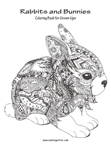 Coloring Bunnies Adult Book Rabbits And