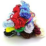 BigOtters Satin Nylon Trim Cord, 2mm 120 Yards Craft Rattail Silk for Beading String, 12 Colors