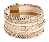 maurices Women's Magnetic Feather Bracelet Misc Tan Combo