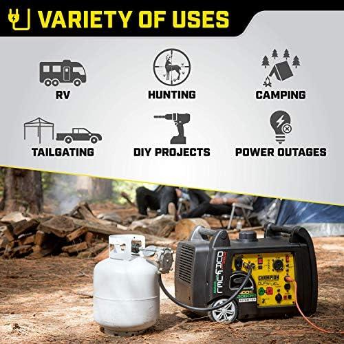 Champion 3400-Watt Dual Fuel RV Ready Portable Inverter Generator with Electric Start 51Bgti 2B8B4L