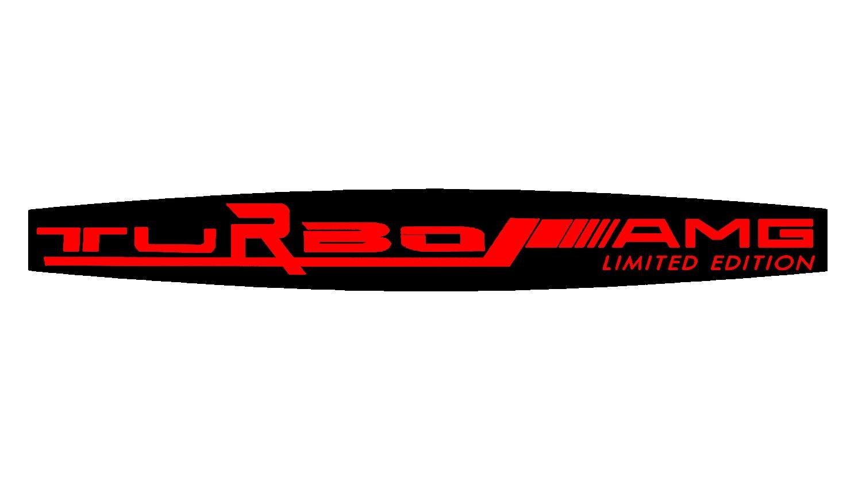 AMG TURBO Limited Edition Special 3D Emblem Badge Doming, No Frame Female Black/Red for all models