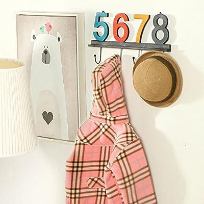 Chris. W Multicolor Estilo Vintage madera perchero de pared ...