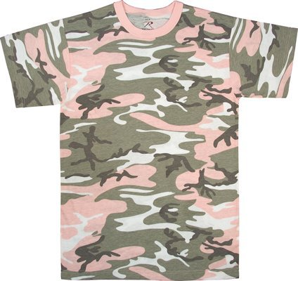 Rothco Colored Camo T-Shirts, Subdued Pink Camo, S