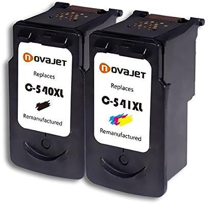 NovajetPG540 PG540XL PG-540XL CL541 CL541XL CL-541XL (2-Pack Negro ...