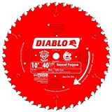 Freud D1040X Diablo 10-Inch 40-Tooth ATB General Purpose Saw Blade with 5/8-Inch Arbor and PermaShield Coating 2 PACK