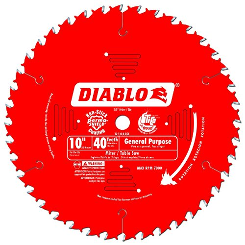 Freud D1040X Diablo 10-In 40-Tooth ATB General Purpose Saw Blade with 5/8-Inch Arbor and PermaShield Coating 2 PACK (Tooth Atb Thin)