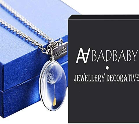 Sterling Silver Dandelion Seed Wish Pendant Necklace with 18 Chain Gift For Her