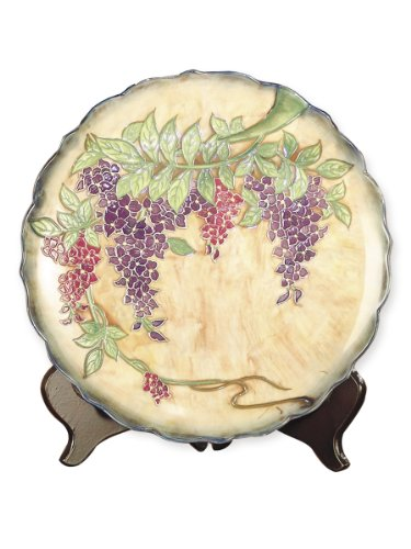 Dale Tiffany PA500209 Wisteria Decorative Charger Plate, ...