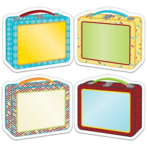 Carson Dellosa - Hipster Lunch Boxes Colorful Cut-Outs, Classroom Décor, 45 Pieces