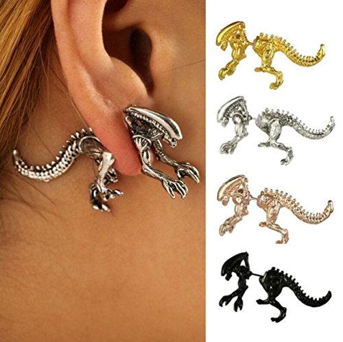 WensLTD Clearance! 1 Pair Dinosaur Earring Skeleton Fashion and Individuality Ear Tragus Piercing Body (A) from WensLTD