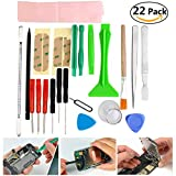Foxnovo 22-in-1 Professional Mobile Phone Repairing Opening Tools Pry Spudger Screwdriver Kit for iPhone /iPad /iPod /Samsung /Nokia /HTC