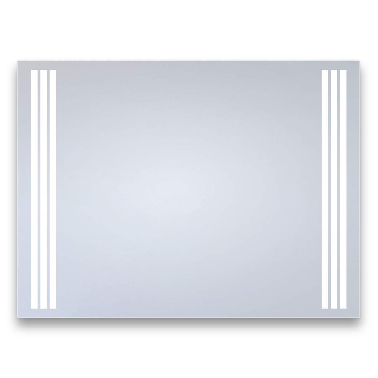 Bricode Süd LED Badspiegel Clarius (CQ) Spiegel mit Beleuchtung in ver. Größen & Lichtfarben (warmweiß, 80 x 60 cm) Bad - Spiegel Made in Germany