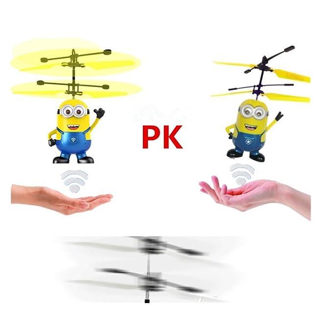 Niños que vuelan los juguetes, bola que vuela, bola del helicóptero de la inducción infrarroja de RC incorporada Iluminación brillante del cambio del color ...