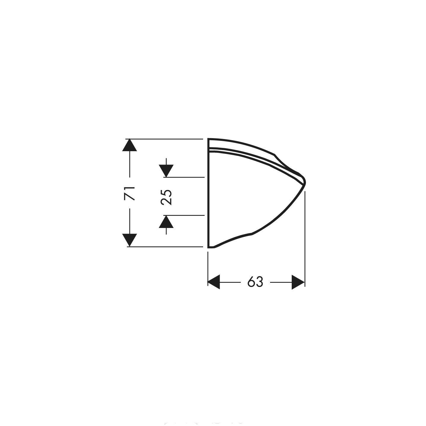 cromato Hansgrohe 27527002 compatibile con tutte le doccette e i flessibili Supporto universale per installazione a parete