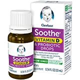 Gerber Soothe Baby Probiotic Drops with Vitamin D, 0.34 Fluid Ounce