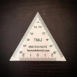 Stainless Steel Dental TMJ Triangular Ruler Instrument